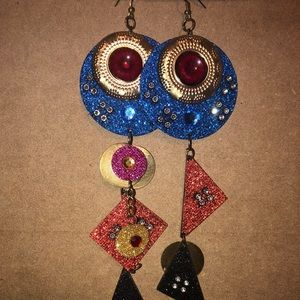 Jewelry - Custom made multi color fashion earrings